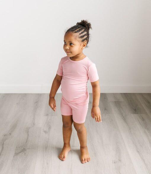 Little Sleepies Bubblegum Short Sleeve and Shorts Bamboo Viscose Two-Piece Pajama Set