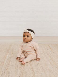 Quincy Mae Longsleeve Baby Tee In Petal