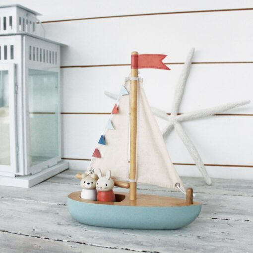Tender Leaf Toys Sailway Boat Wooden Sail Boat from Tender Leaf Toys