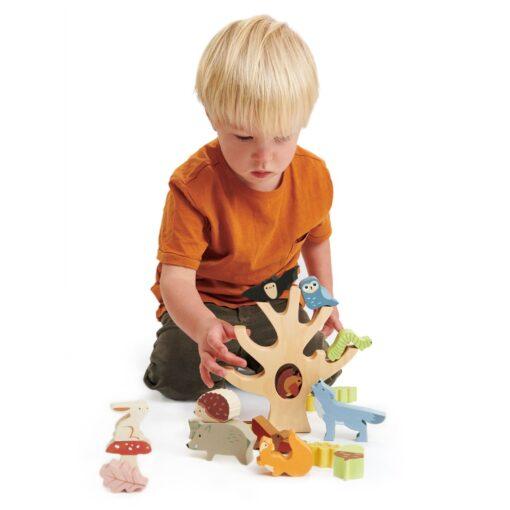 Tender Leaf Toys Stacking Forest Wooden Animal Set from Tender Leaf Toys