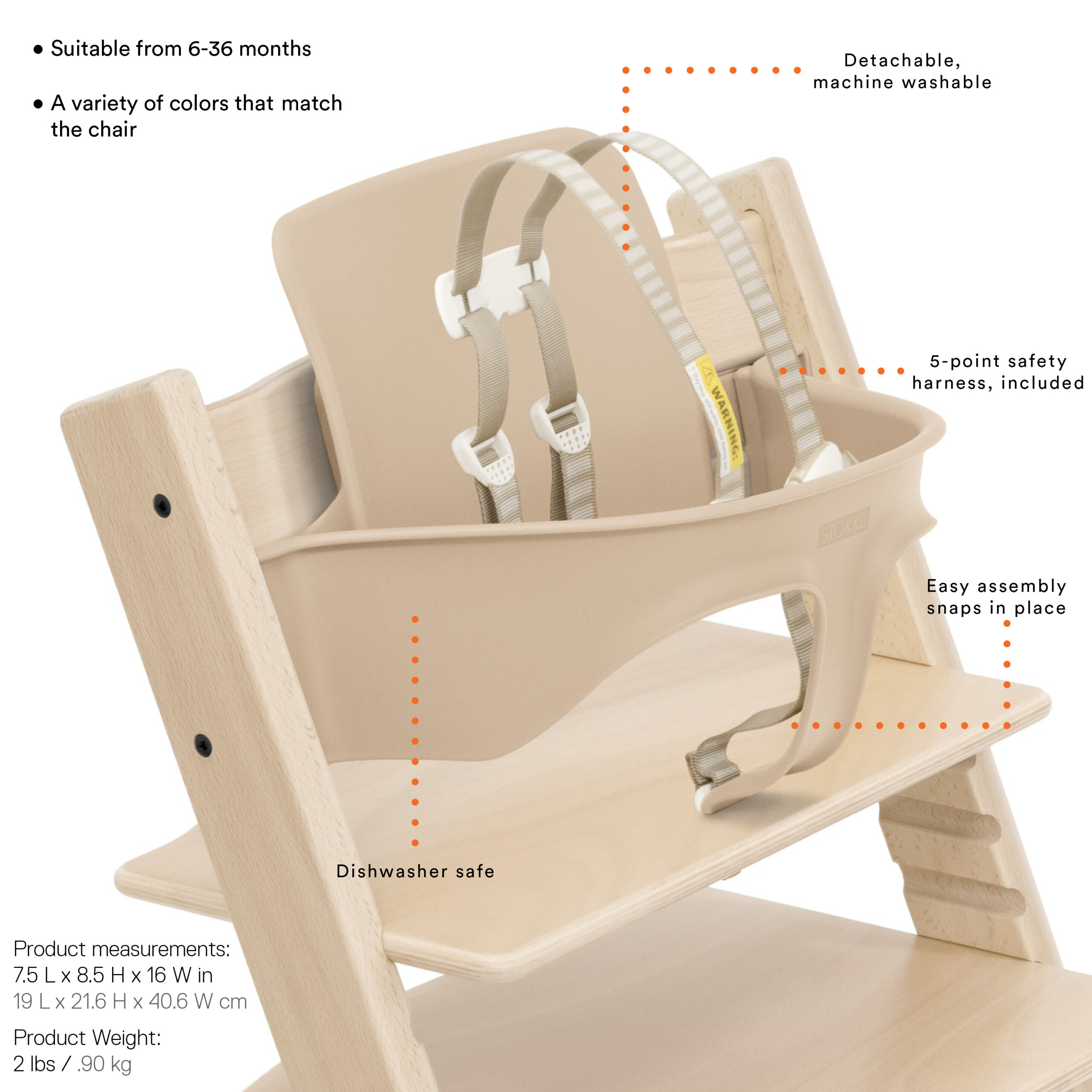 Stokke Tripp Trapp Babyset Features