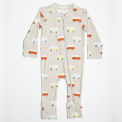 Willow+Co Vintage Bus Bamboo Footie