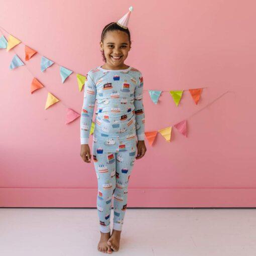 Little Sleepies Birthday Cakes Bamboo Viscose Two-Piece Pajama Set