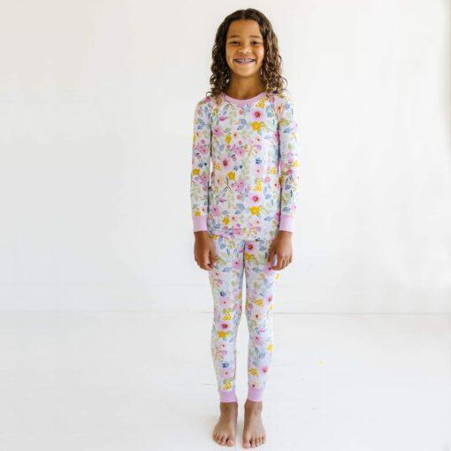 Little Sleepies Bella Blooms Bamboo Viscose Two-Piece Pajama Set