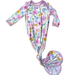 Little Sleepies Bella Bloms Bamboo Viscose Infant Knotted Gown