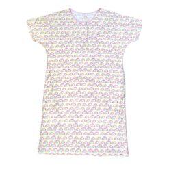 Little Sleepies Pastel Rainbows Bamboo Women's Caftan Sleep Shirt
