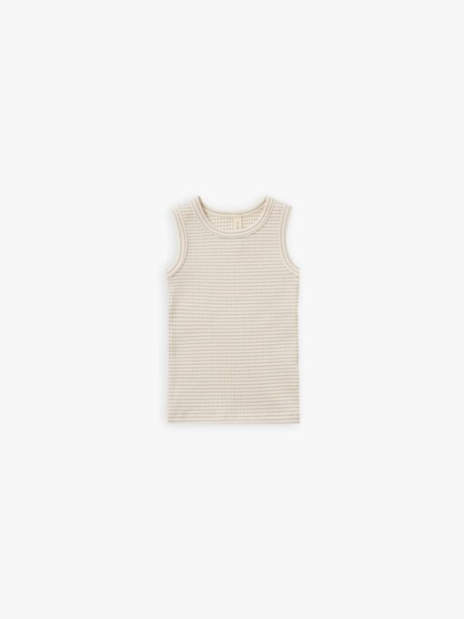 Quincy Mae Ribbed Tank in Ash Stripe
