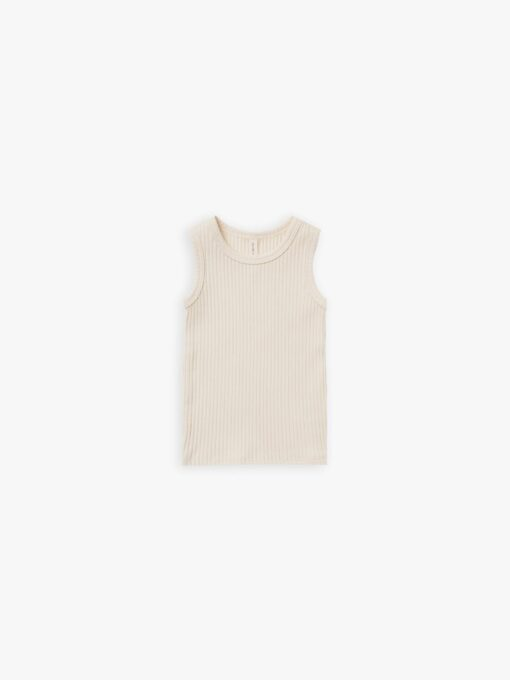 Quincy Mae Ribbed Tank in Natural