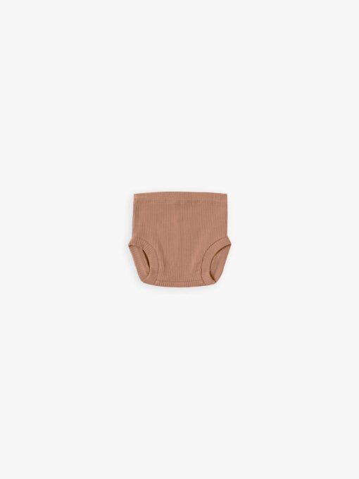 Quincy Mae Ribbed Bloomer in Terracotta