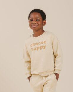 Rylee + Cru Choose Happy Crew Neck Sweatshirt