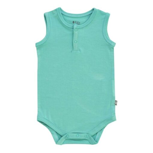 Kyte BABY Sleeveless Bodysuit in Jade