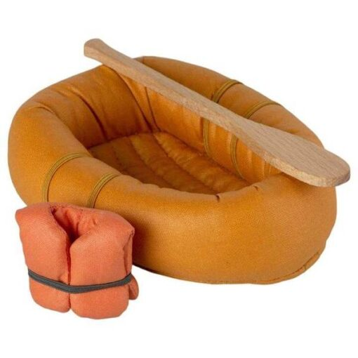 Maileg Rubber Boat in Dusty Yellow for Mouse