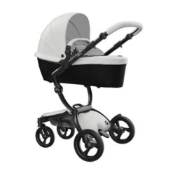 Mima Xari Black and White Stroller with Built In Carrycot
