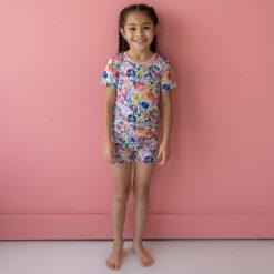 Little Sleepies Summer Garden Short Sleeve and Shorts Bamboo Viscose Pajama Set