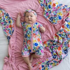 Little Sleepies Summer Garden Shorty Bamboo Viscose Zippy