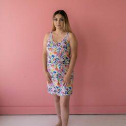 Little Sleepies Summer Garden Bamboo Viscose Women's Tank Nightgown
