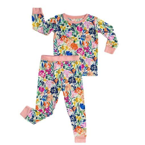 Little Sleepies Summer Garden Bamboo Viscose Two-Piece Pajama Set