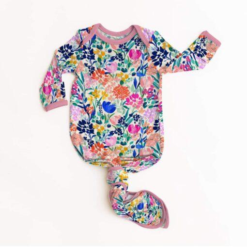 Little Sleepies Summer Garden Bamboo Viscose Infant Knotted Gown