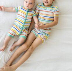 Little Sleepies Summer Stripe Shorty Bamboo Viscose Zippy