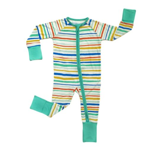 Little Sleepies Summer Stripe Bamboo Viscose Zippy