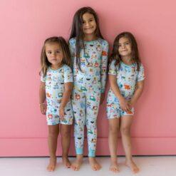Little Sleepies Food Trucks Short Sleeve and Shorts Bamboo Viscose Pajama Set