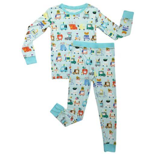 Little Sleepies Foods Trucks Bamboo Viscose Two-Piece Pajama Set