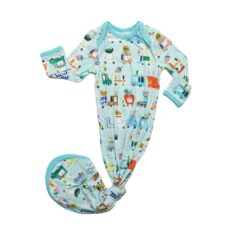 Little Sleepies Food Trucks Bamboo Viscose Infant Knotted Gown