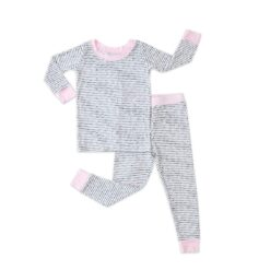Little Sleepies Polka Dots with Pink Trim Bamboo Two-Piece Pajama Set