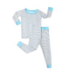 Little Sleepies Polka Dots with Blue Trim Bamboo Two-Piece Pajama Set