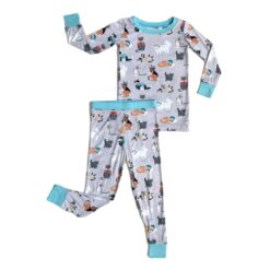 Little Sleepies Blue Cool Cats Bamboo Viscose Two-Piece Pajama Set