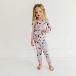 Little Sleepies Pink Cool Cats Bamboo Viscose Two-Piece Pajama Set