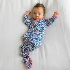 Little Sleepies Wild Leopard Bamboo Viscose Infant Knotted Gown