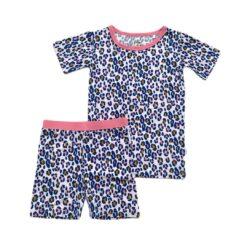 Little Sleepies Wild Leopard Short Sleeve and Shorts Bamboo Viscose Pajamas