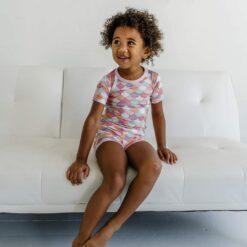 Little Sleepies Mermaid Scales Short Sleeve and Shorts Bamboo Viscose Pajamas