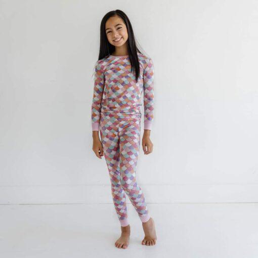 Little Sleepies Mermaid Scales Bamboo Viscose Two-Piece Pajama Set