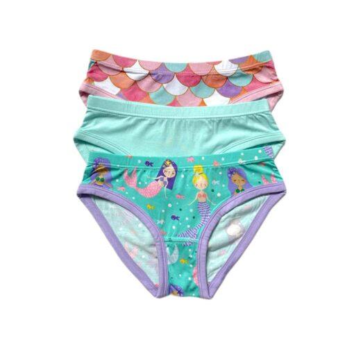 Little Sleepies Mermaid Scales Girl's Bamboo Briefs Underwear