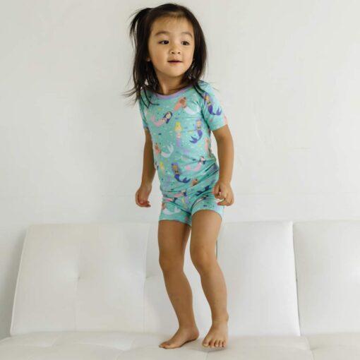 Little Sleepies Mermaid Magic Short Sleeve and Shorts Bamboo Viscose Pajamas