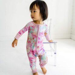 Little Sleepies Cotton Candy Tie Dye Bamboo Viscose Zippy