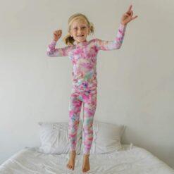Little Sleepies Cotton Candy Tie Dye Bamboo Viscose Two-Piece Pajama Set