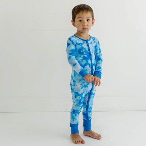 Little Sleepies Milky Way Tie Dye Bamboo Viscose Zippy