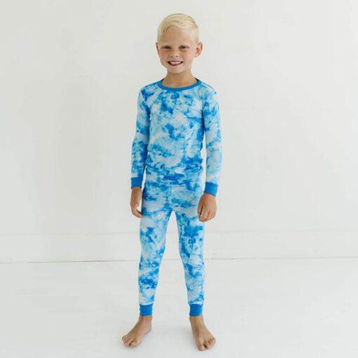 Little Sleepies Milky Way Tie Dye Bamboo Viscose Two-Piece Pajama Set