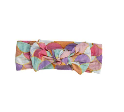 Little Sleepies Mermaid Scales Bamboo Viscose Bow Headband