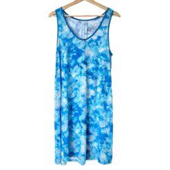 Little Sleepies Milky Way Tie Dye Women's Bamboo Tank Nightgown