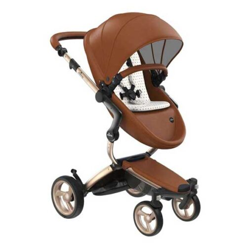 Champagne Camel and White and Gold Mima Xari Open Box Stroller Deal