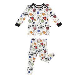Peregrine Kidswear Space Doodle Bamboo Two-Piece Pajamas