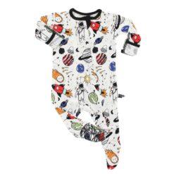 Peregrine Kidswear Space Doodle Bamboo Footed Sleeper
