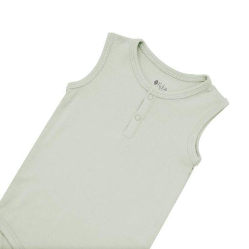 Kyte BABY Sleeveless Bodysuit in Aloe