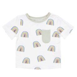 Kyte BABY Toddler Tee in Aloe Rainbow