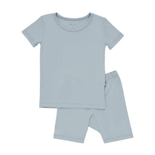 Kyte BABY Short Sleeve Toddler Pajama Set in Fog