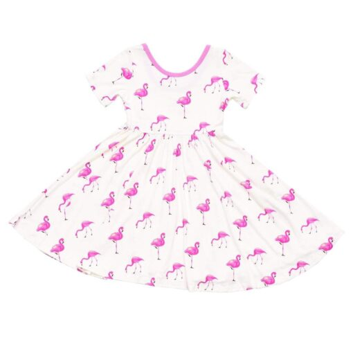 Kyte BABY Twirl Dress in Flamingo